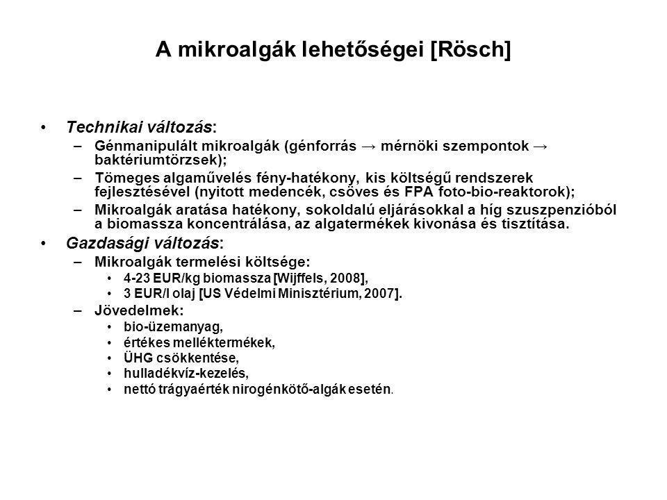 A mikroalgák lehetőségei [Rösch]